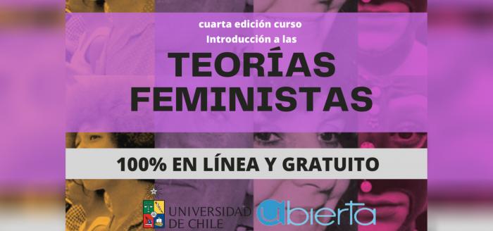 """""""UAbierta"""": Iniciativa de UChile realizará cuarta versión del curso gratuito """"Introducción a las Teorías Feministas"""""""