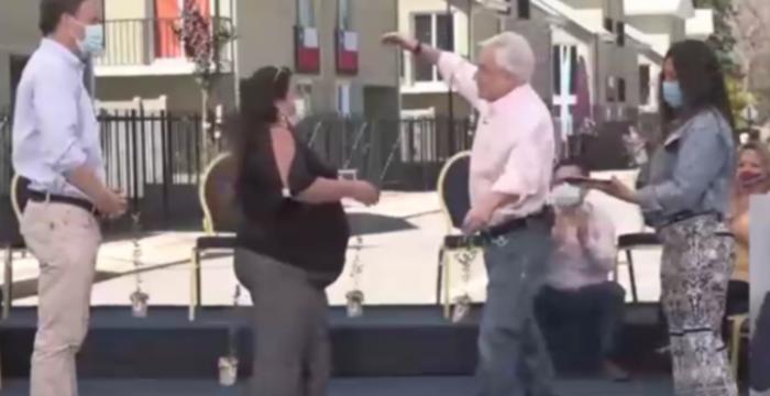 Acogen a trámite querella presentada contra el Presidente Piñera por inauguración sin mascarilla de conjunto habitacional en Los Andes