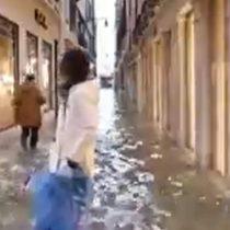 Venecia bajo el agua: fuertes lluvias anegan la ciudad italiana