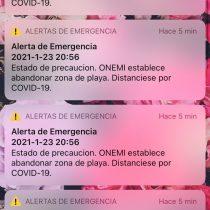 """Onemi tras masivo envío de mensajes del Sistema de Alerta de Emergencia (SAE): """"Ha salvado muchas vidas"""""""