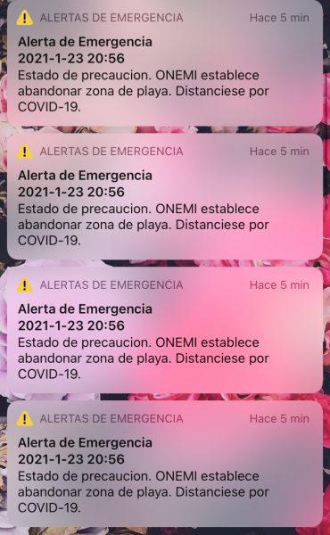 Onemi tras masivo envío de mensajes del Sistema de Alerta de Emergencia (SAE):