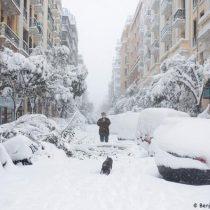 Madrid paralizada por gran nevada que siembra caos en España
