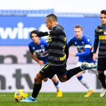 Alexis Sánchez perdió un penal en derrota del Inter ante Sampdoria