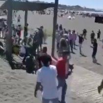Carabineros fueron agredidos en la playa de Pichilemu en medio de una detención por tráfico de drogas