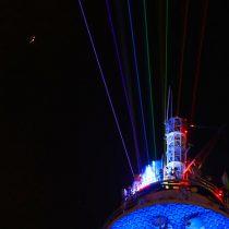 El comentado show de luces de la Torre Entel que no convenció a los santiaguinos