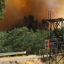 Declaran alerta roja en Collipulli y Ercilla por incendio forestal: Onemi llama a evacuación de algunos sectores