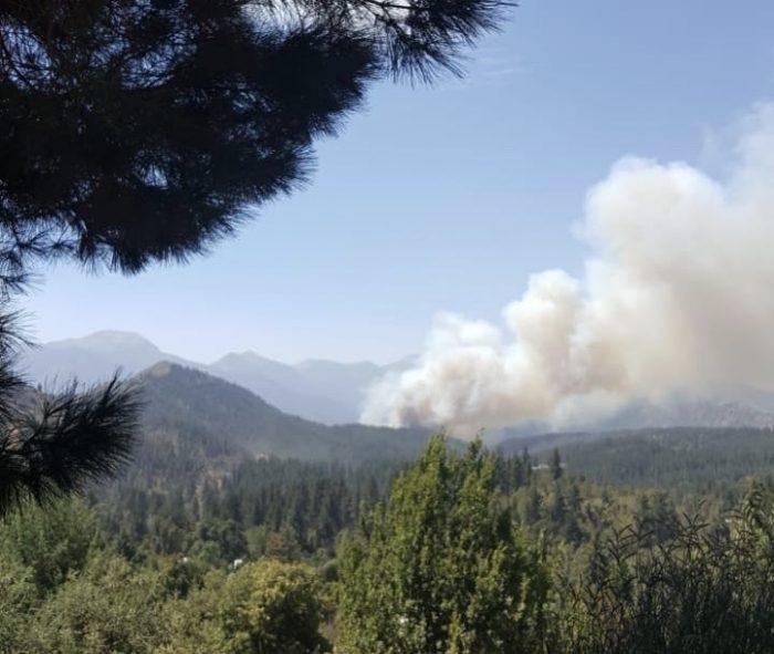 Alerta roja para San Fernando por incendio forestal: Onemi solicitó evacuar Sierras de Bellavista