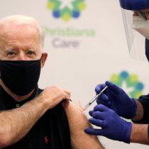 Presidente electo de Estados Unidos, Joe Biden, recibe segunda dosis de vacuna desarrollada por Pfizer y BioNTech