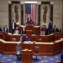Registro muestra evacuación de legisladores en medio de la toma del Capitolio