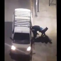 El video del supuesto secuestro en el centro de Santiago que tuvo que salir a aclarar Carabineros