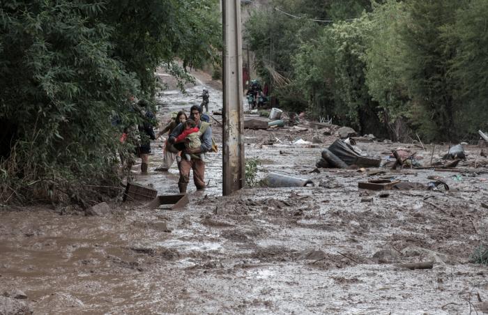 Fotoreportaje: Aluvión en el Cajón del Maipo