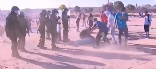 Desalojo en toma de Maipú terminó con fuertes enfrentamientos entre Carabineros y pobladores
