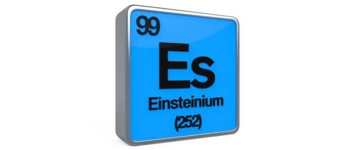 Einstenio, el elemento bautizado en honor a Einstein cuyos secretos los científicos están empezando a dilucidar