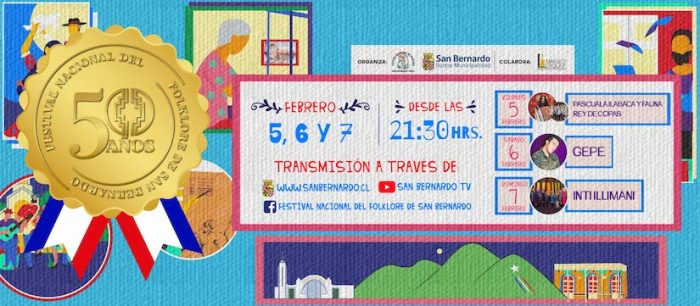 Festival Nacional del Folklore de San Bernardo vía online