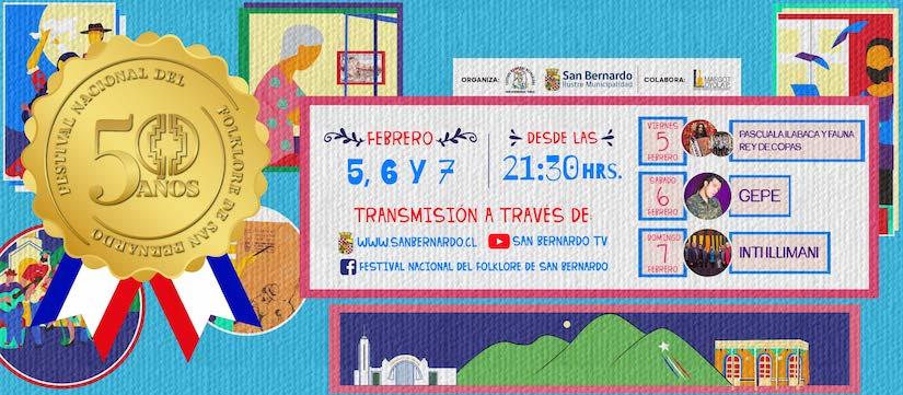 Festival Nacional del Folklore de San Bernardo vía online - El Mostrador