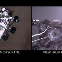 El primer amartizaje captado en video: NASA revela llegada del Perseverance al planeta rojo