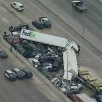 Trágico accidente múltiple en Texas que involucró a cerca de 100 vehículos dejó cinco víctimas fatales