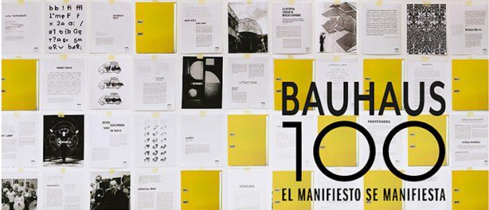 """Exposición """"Bauhaus 100. El manifiesto se manifiesta"""" de José Délano en Museo Nacional de Bellas Artes"""