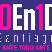 Festival de intervenciones urbanas 100 En 1 Día Santiago se realizará bajo estrictas normas sanitarias