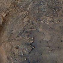 El cráter Jezero, lugar donde aterrizó el rover Perseverance