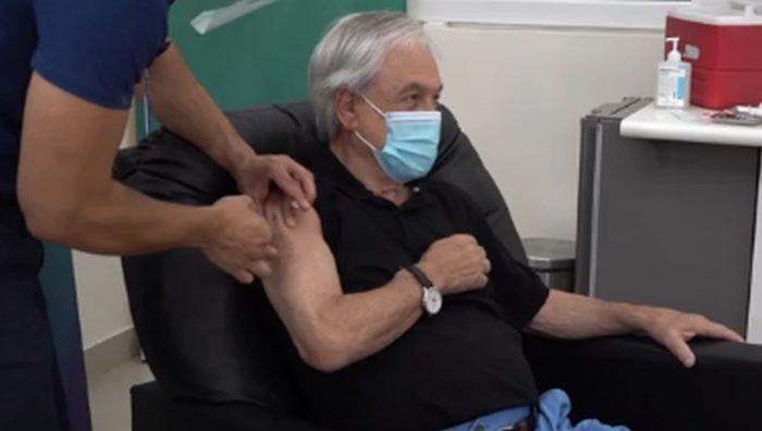 Piñera recibió primera dosis de la vacuna contra el Covid-19