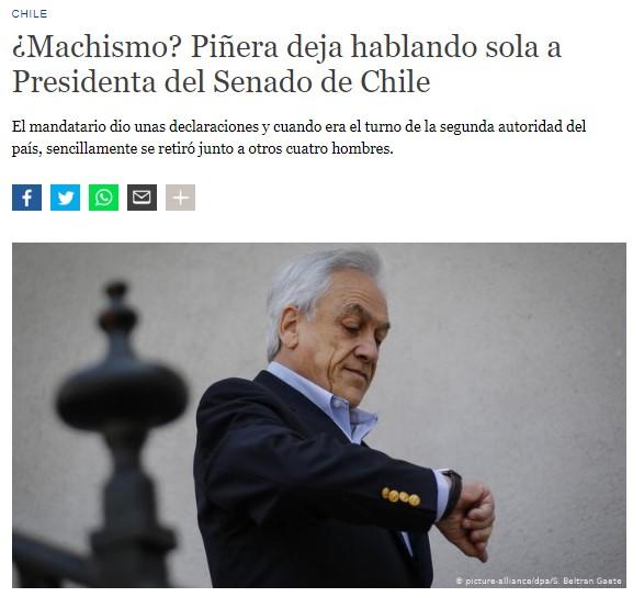 """Piñera deja hablando sola a Presidenta del Senado de Chile"": la mirada de DW al impasse en La Moneda"