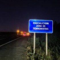 """""""Precaución zona de terroristas"""": intervienen señaléticas en el ingreso a La Araucanía"""