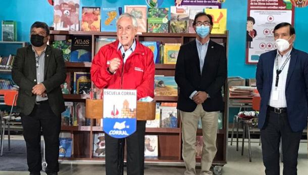 Piñera ratifica clases presenciales para marzo y asegura que