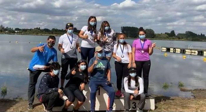 Delegación de jóvenes del Maule se consagran en Campeonato Nacional de Canotaje