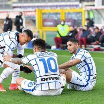 Alexis Sánchez entregó una asistencia en triunfo del Inter que lo mantiene como sólido puntero de la Serie A