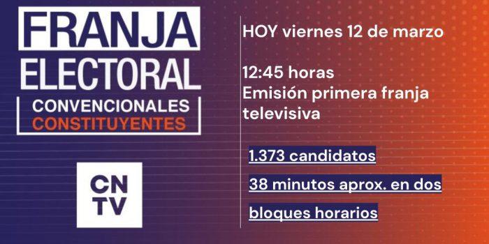 Diaguitas y collas abrieron franja electoral en TV por Convencionales Constituyentes