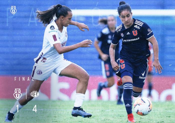 La U cae con un amargo 1-4 ante Ferroviária en Copa Libertadores femenina