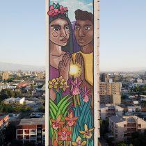 La artista chilena STFI Leigthon presenta mural de 60 metros de altura sobre la igualdad
