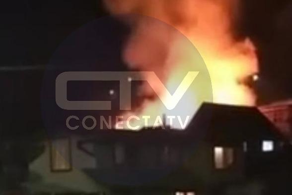Cabaña en Tirúa es quemada completamente tras episodio de violencia intrafamiliar