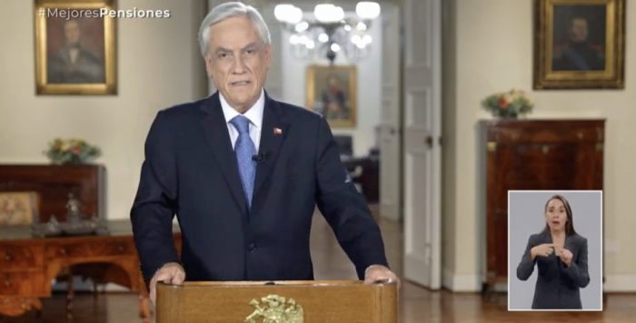 Presidente Piñera dice que el #TercerRetiro10xCiento es para los ricos