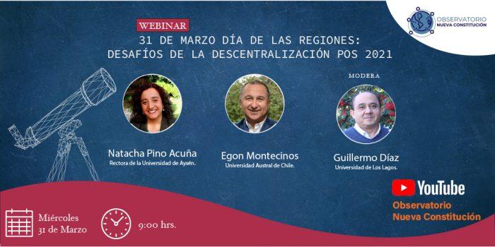[EN VIVO] Observatorio Nueva Constitución: Día de las regiones, desafíos de la descentralización pos 2021
