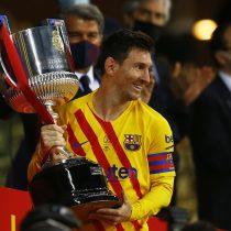 Un brillante Messi lleva al Barça al título en la Copa del Rey