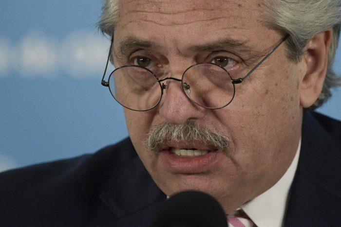 Presidente Alberto Fernández trata de