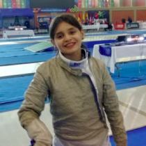 """Florencia Cabezas, campeona nacional de esgrima: """"Quiero darle una medalla de oro a Chile"""""""