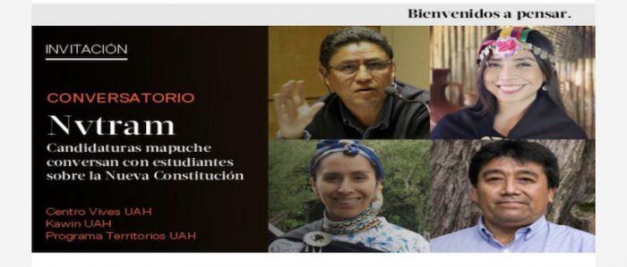 Candidaturas mapuche conversan con estudiantes sobre la nueva Constitución
