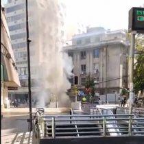Accidente eléctrico provocó una explosión e incendio en las cercanías del Metro Tobalaba