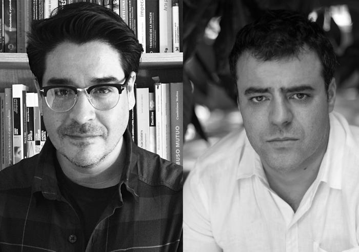 Curador Sebastián Vidal conversa con el artista Nicolás Franco
