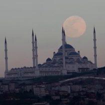 """Evento astronómico: video muestra a la """"Superluna rosada"""" en diversos países del mundo incluyendo Chile"""