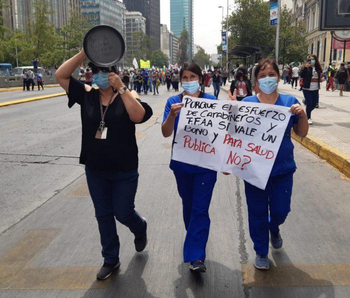 Fenats Nacional denuncia que Gobierno no ha pagado Bono Covid a los funcionarios de la salud contratados a honorarios tras siete meses del anuncio