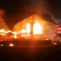 Incendio destruye escuela en Curacautín: investigan intencionalidad del siniestro