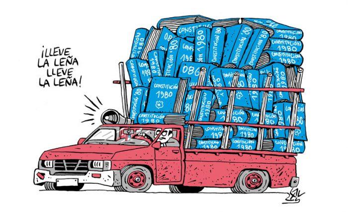"""Alen Lauzán ilustra """"el fallecimiento"""" de la Constitución del 80"""