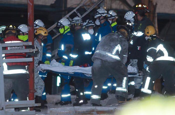 23 muertos y 65 hospitalizados es el saldo del desplome del metro en Ciudad de México