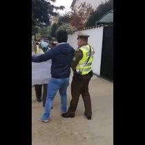 Candidato a concejal detenido tras gritar