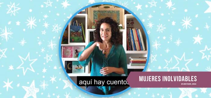 Natacha Valenzuela, la mujer que ha adaptado cientos de cuentos en beneficio de niñas y niños sordos o ciegos