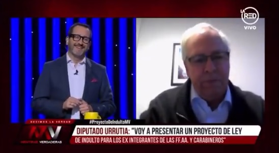 La confrontación siguió en Twitter: diputado Urrutia abandonó entrevista televisiva tras pregunta sobre crímenes de lesa humanidad perpetrados por militares